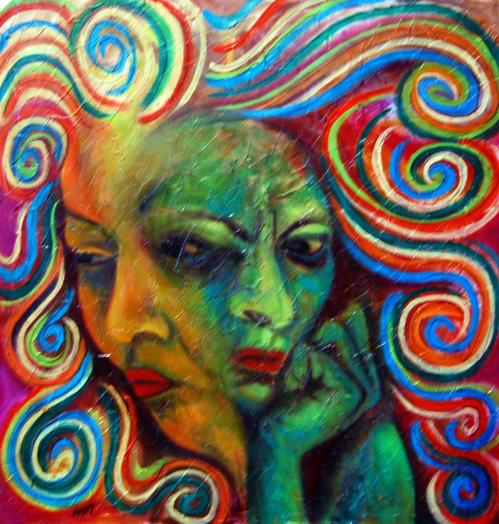 InnerSpeak, oil on 24x24 gallery wrapped canvas