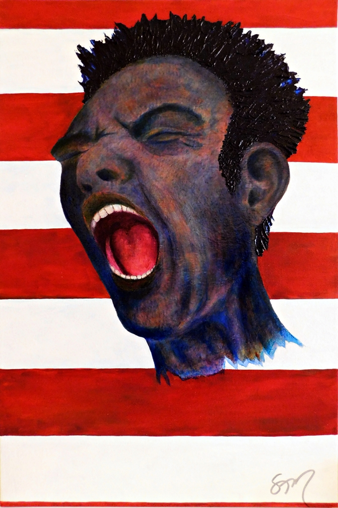Red, White and Blue, acrylic on 20x24 canvas