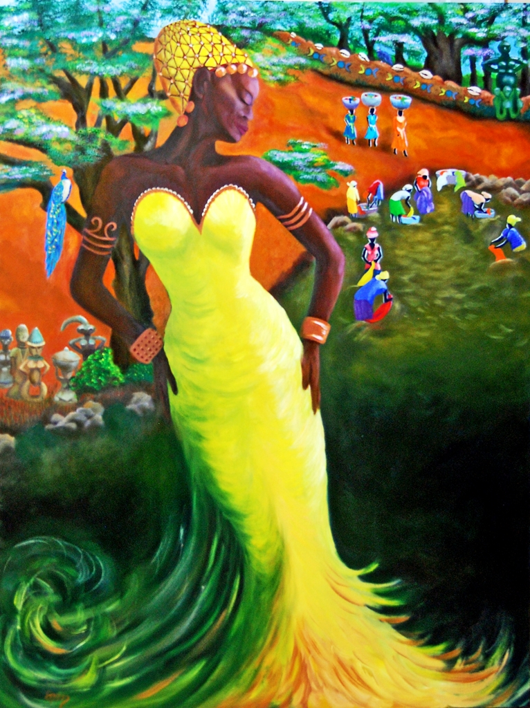 Oshun Attends the Women at the River